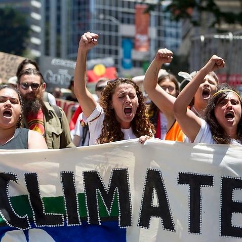 A protest in Brisbane.