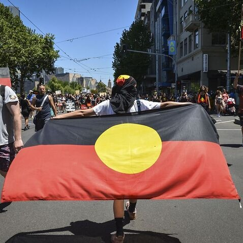 Protest against Australia Day in Melbourne