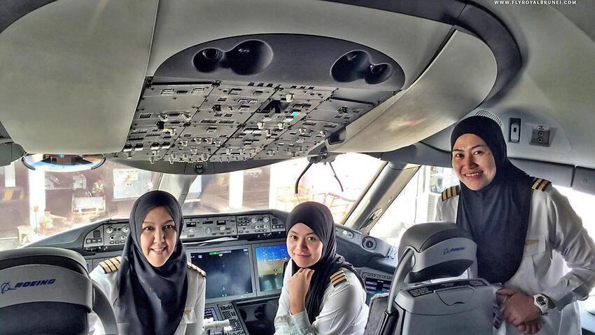 All-female pilot crew land maiden flight in Saudi Arabia