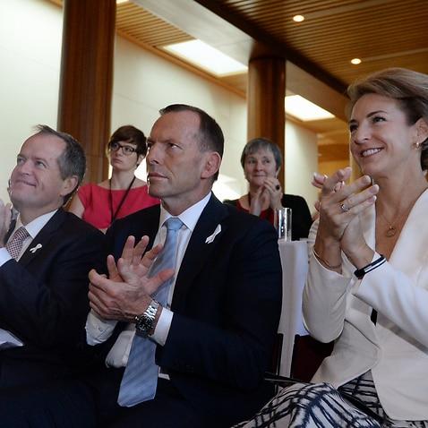 Shorten, Abbott and Cash (AAP Image/Lukas Coch)