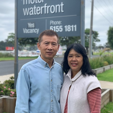 Michael Li owns Lakes Waterfront Motel in Lakes Entrance