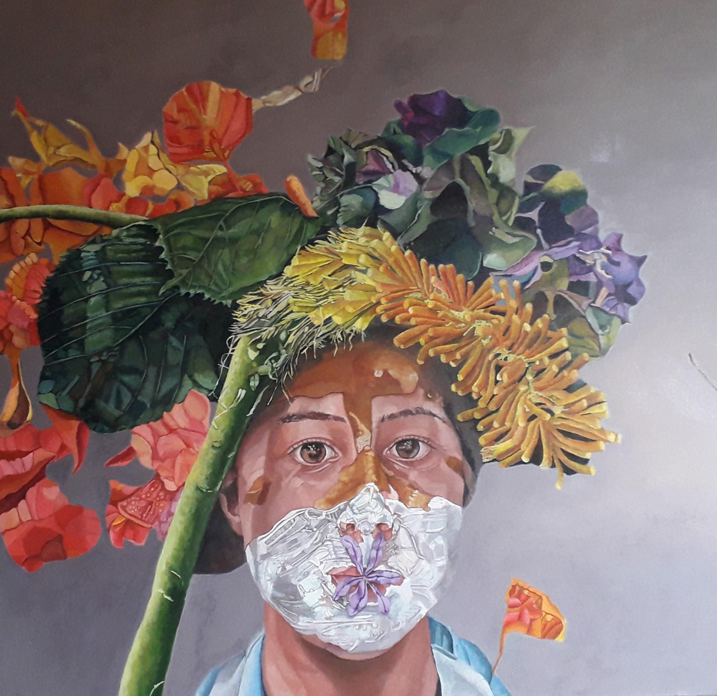 Colombian artist María Peña's art work
