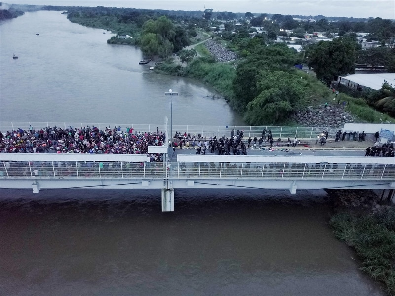 Mexican President Enrique Pena Nieto called the mass rush to penetrate the border 'unprecedented'.