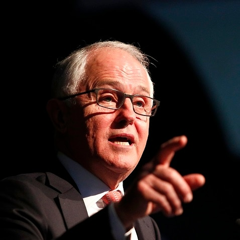 Prime Minister Malcolm Turnbull delivers a speech at the Business Council of Australia dinner in Sydney, Monday, November 20, 2017. (AAP Image/Daniel Munoz) NO ARCHIVING