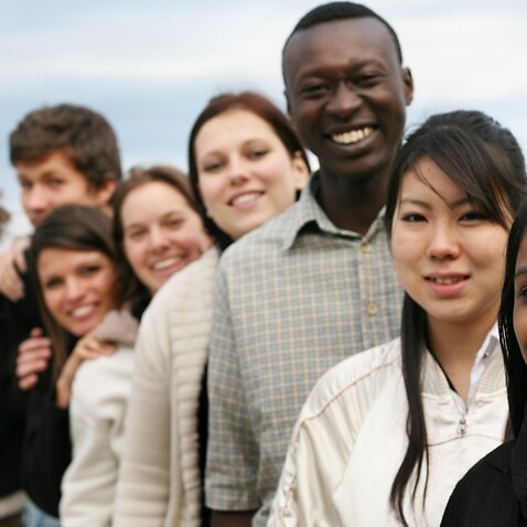 Group of young people with different ethnicities