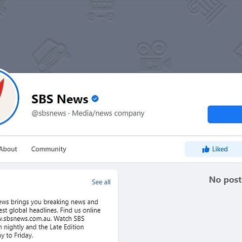 A Screenshot of SBS News' Facebook page on Thursday morning.