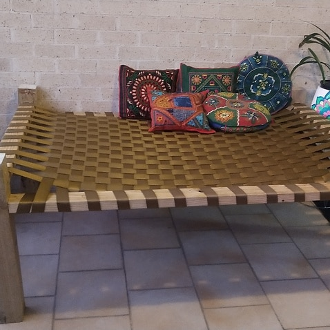 Charpaee- Indian style bed with webbing