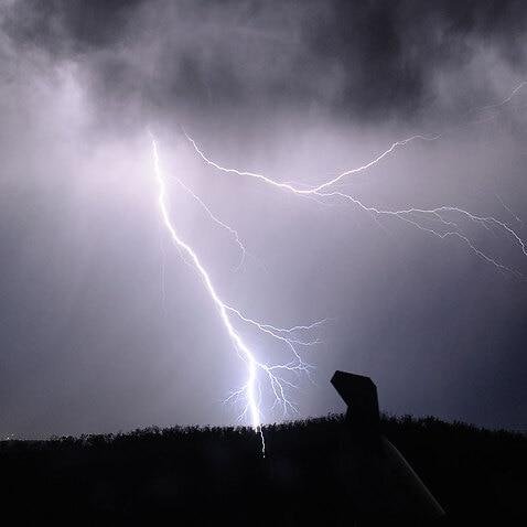 File image of lightning storm in central Victoria in 2015.