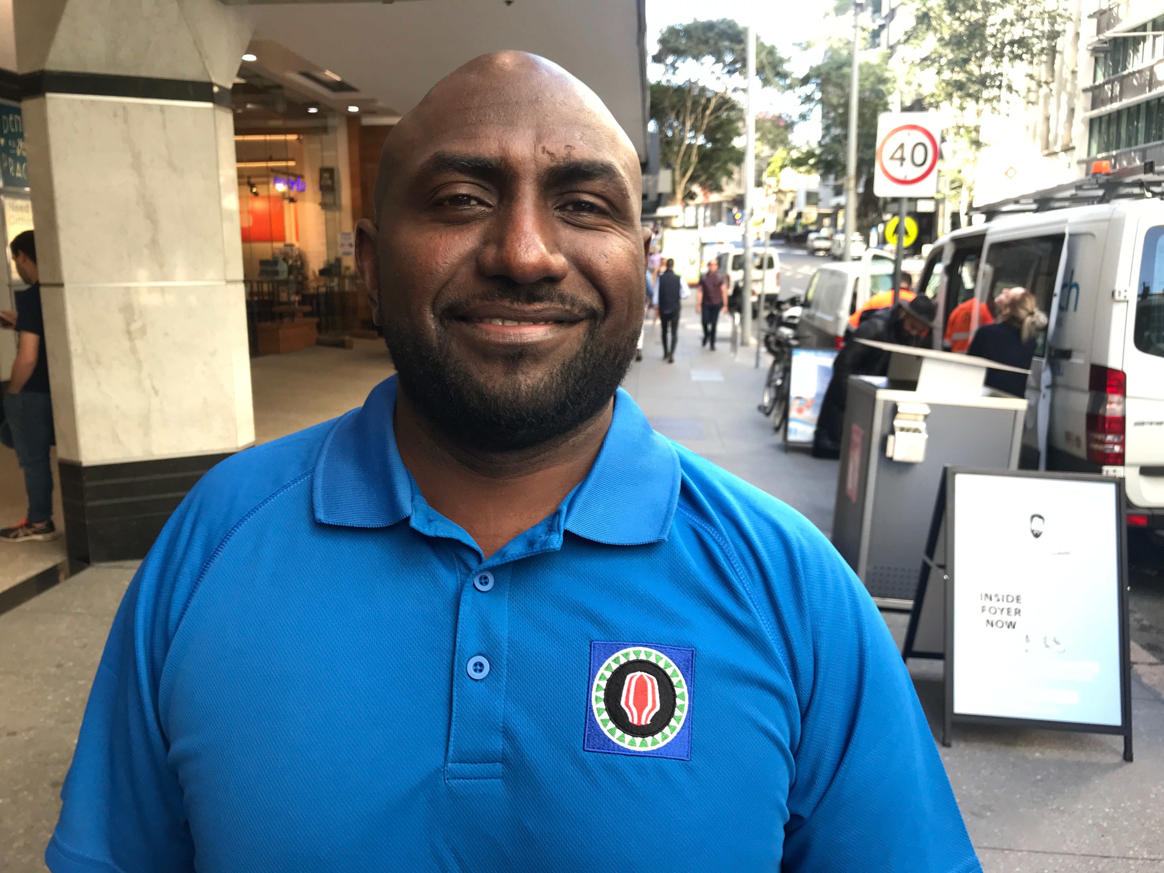 Junior Novera was the first to register for the Bougainville independence referendum in Brisbane.