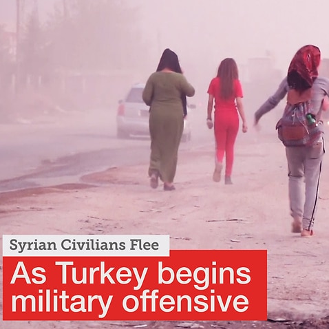 Syrian civilians forced to flee as Turkish military operation begins