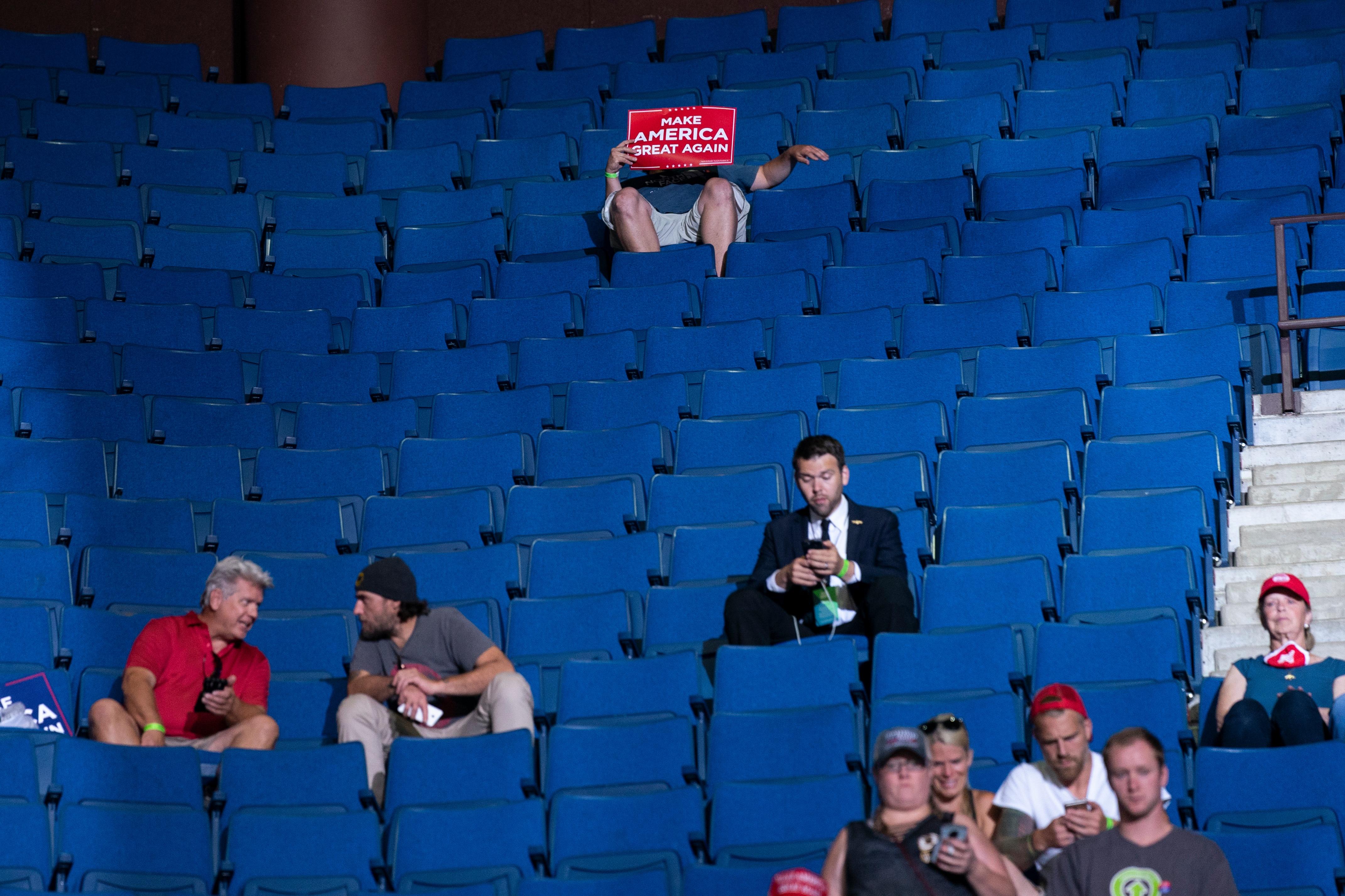 Trump Rally - empty seats