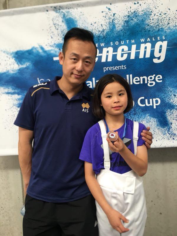 溫熠煒和學生