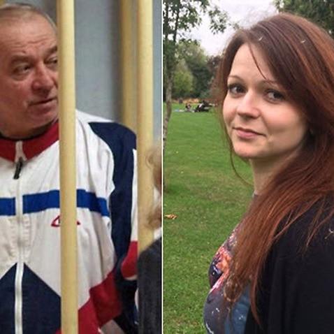 Sergei Skripal (L) and his daughter Yulia Skripal.