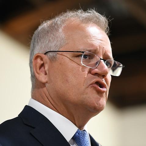 Australian Prime Minister Scott Morrison tours Seer Medical in Melbourne on Thursday, 6 May, 2021.