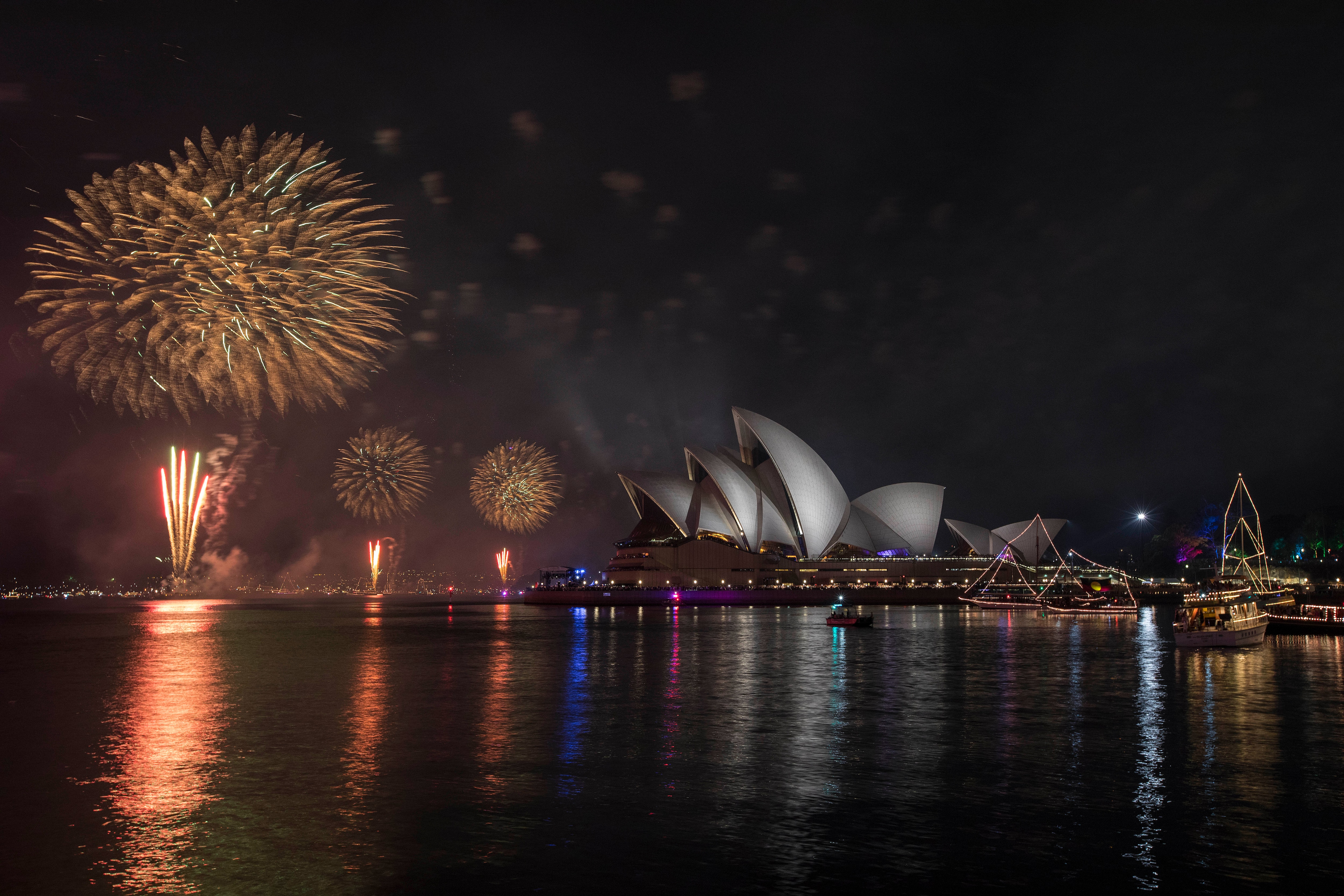Australia and New Zealand welcome New Year with spectacular firework display