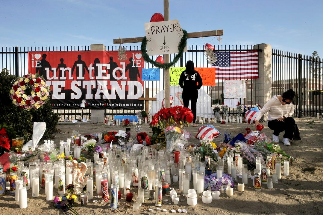 December 5, 2015: Remembrance to the San Bernardino victims in California.