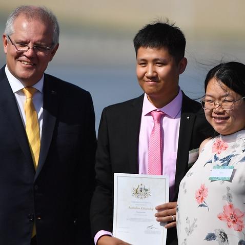 Scott Morrison gives out citizenship certificates