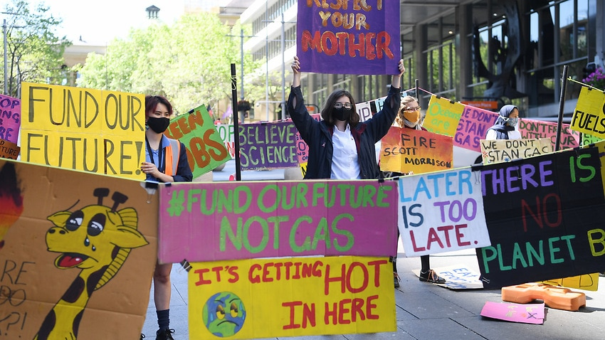 'This is not a future I want': Thousands of students lead climate strikes to protest against gas projects
