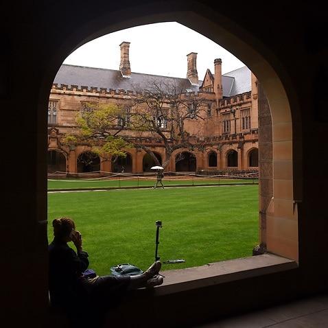 The quadrangle at the University of Sydney