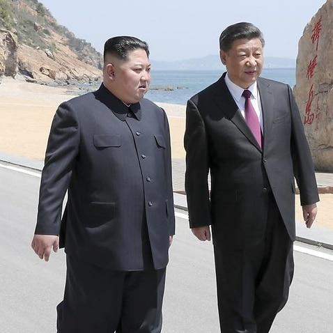 China's President Xi Jinping and North Korean leader Kim Jong Un.