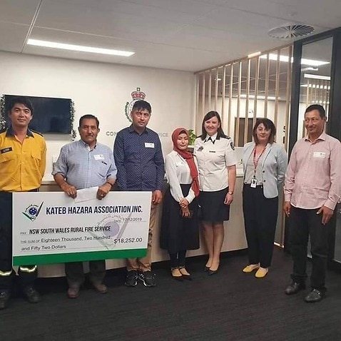 Sydney based Kateb Hazara Association donates to NSW RFS
