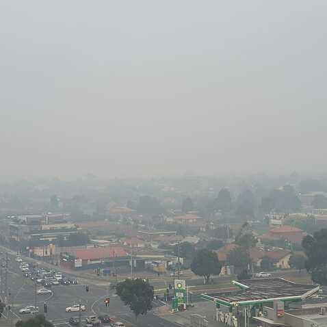 Melbourne covered by smoke on Tuesday 14-01-20