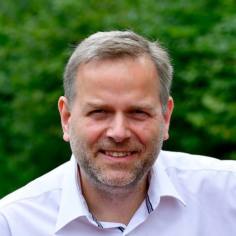 Leif-Erik Holm, regional leader of Germany's anti-Islam, anti-immigration AfD (Alternative fuer Deutschland) party in Mecklenburg-Western Pomerania