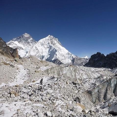 the Himalayan mountain range