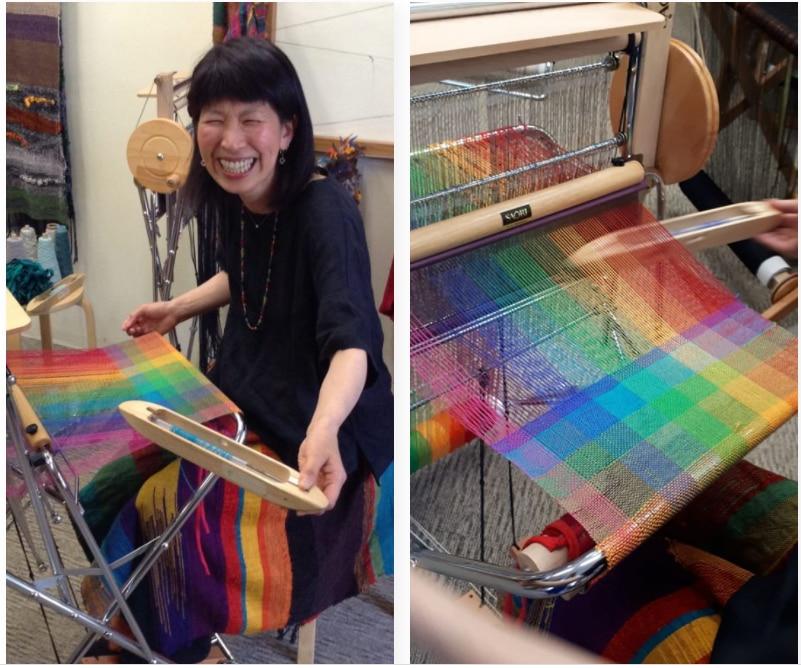 Rainbow Art Weaver Yoko Kawabata