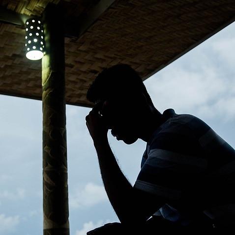 An asylum seeker on Manus Island before the facilities closed.