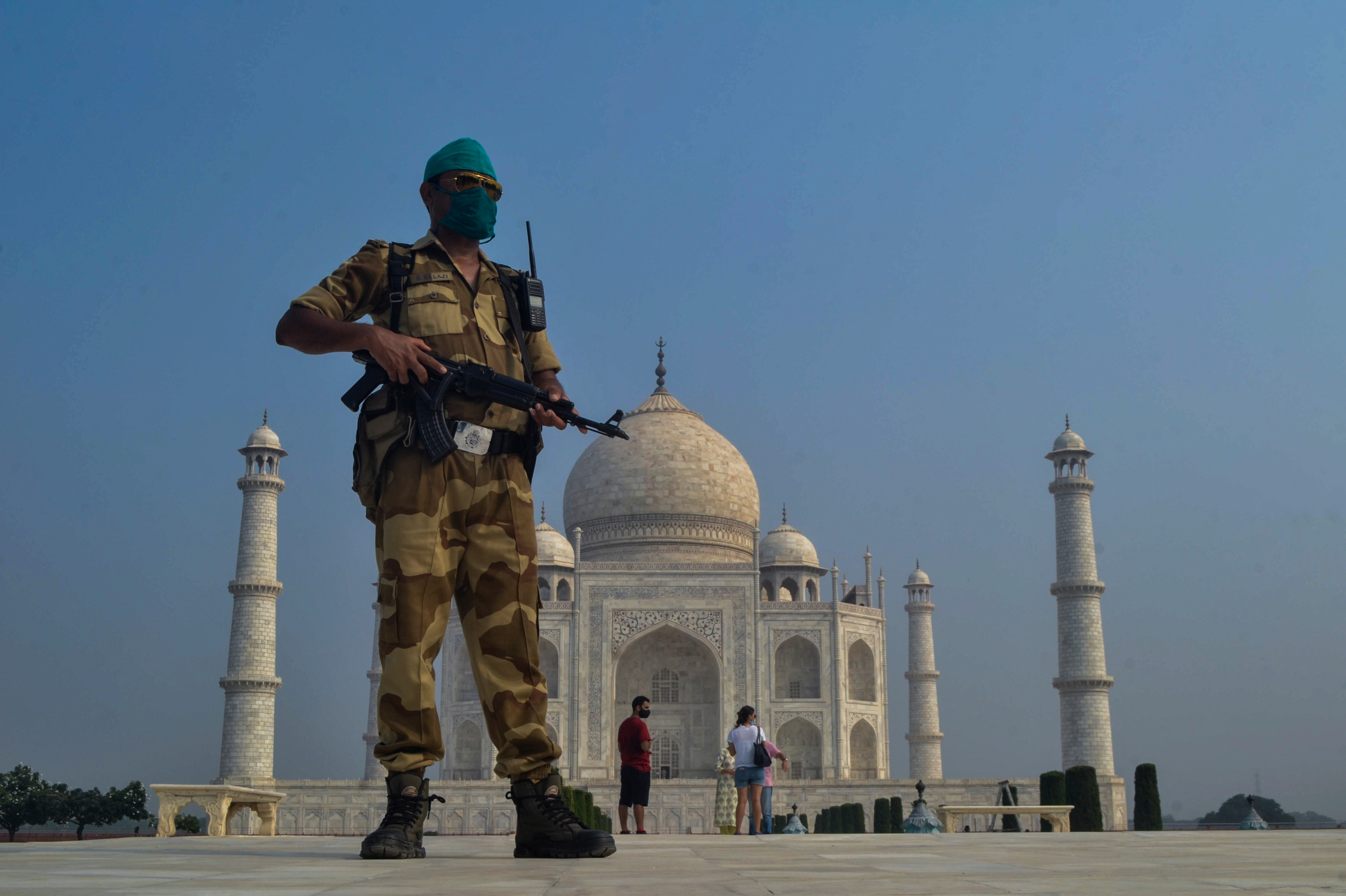 The Taj Mahal has reopened after a six-month closure in Agra, India.
