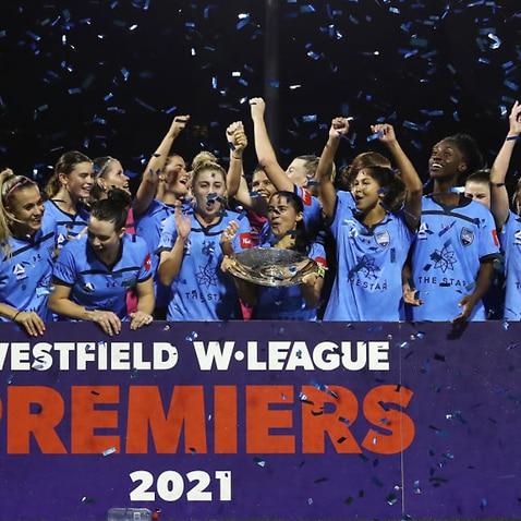 Sydney FC celebrate their W-League premiership