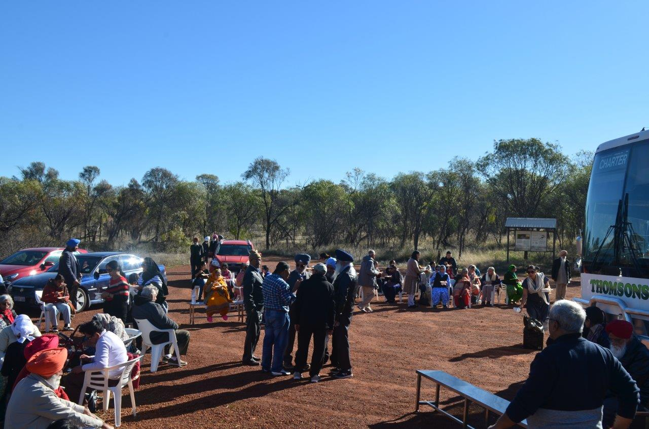 Sikh community visits Tammin and Yorkrakine Rock, located 200 kms from Perth