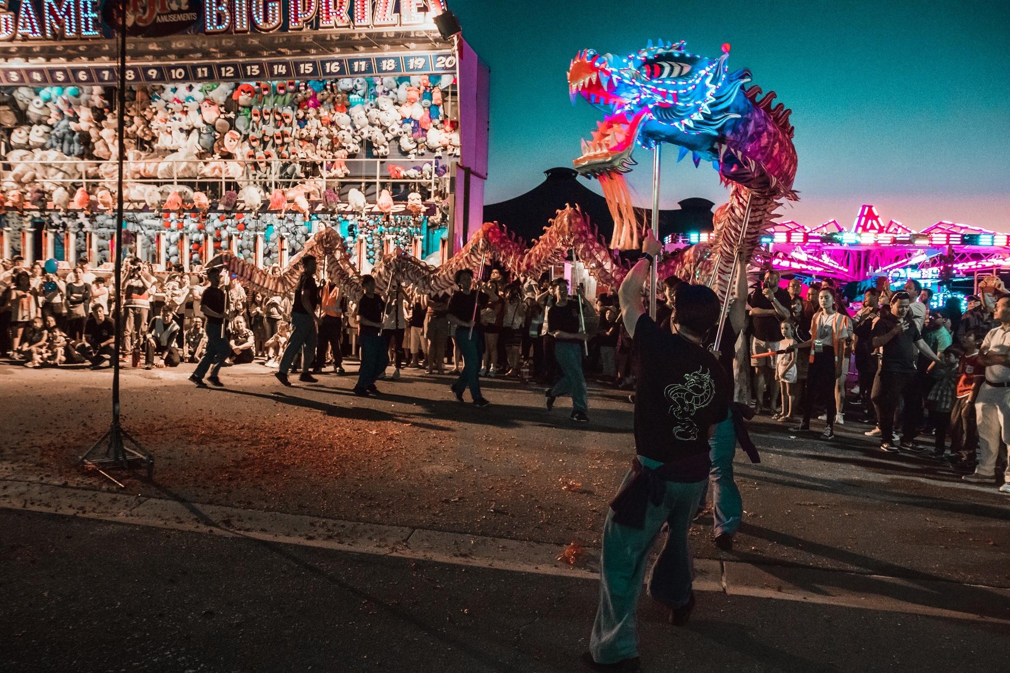 Dragon dance at Tet Festival