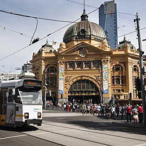 Flinders Street Station, Central Melbourne, 2012. (AAP)