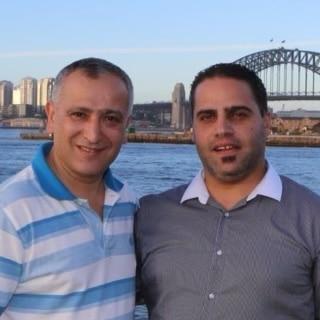 Dr Rifi (left) and Khaled (right).