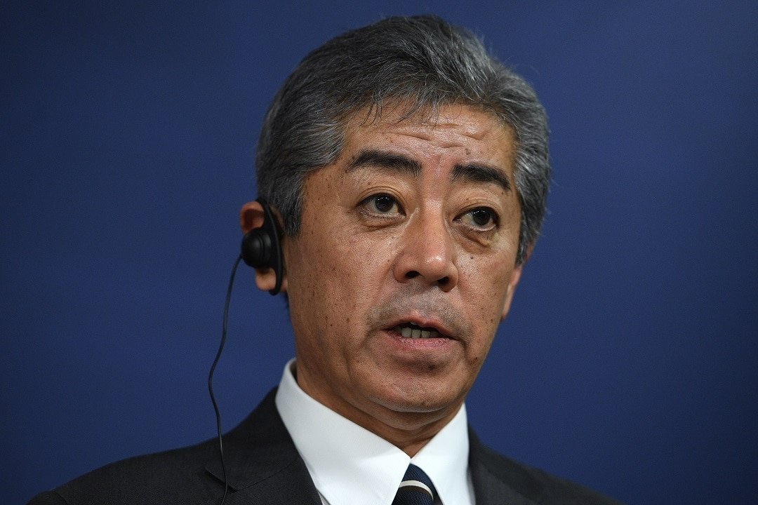 Japanese Defence Minister Takeshi says the search for the missing US marines continues.