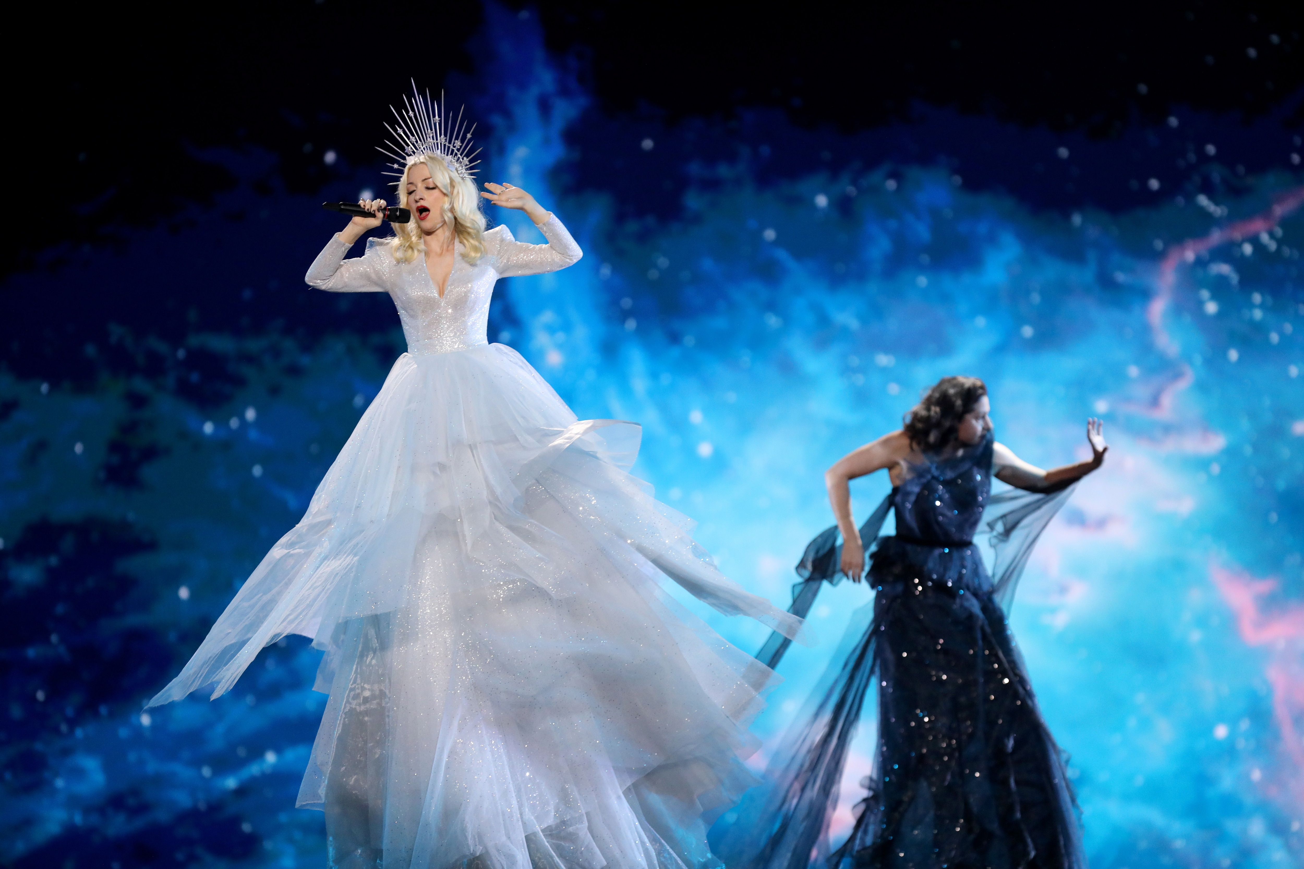 Australian singer Kate Miller-Heidke at the Eurovision semi finals.