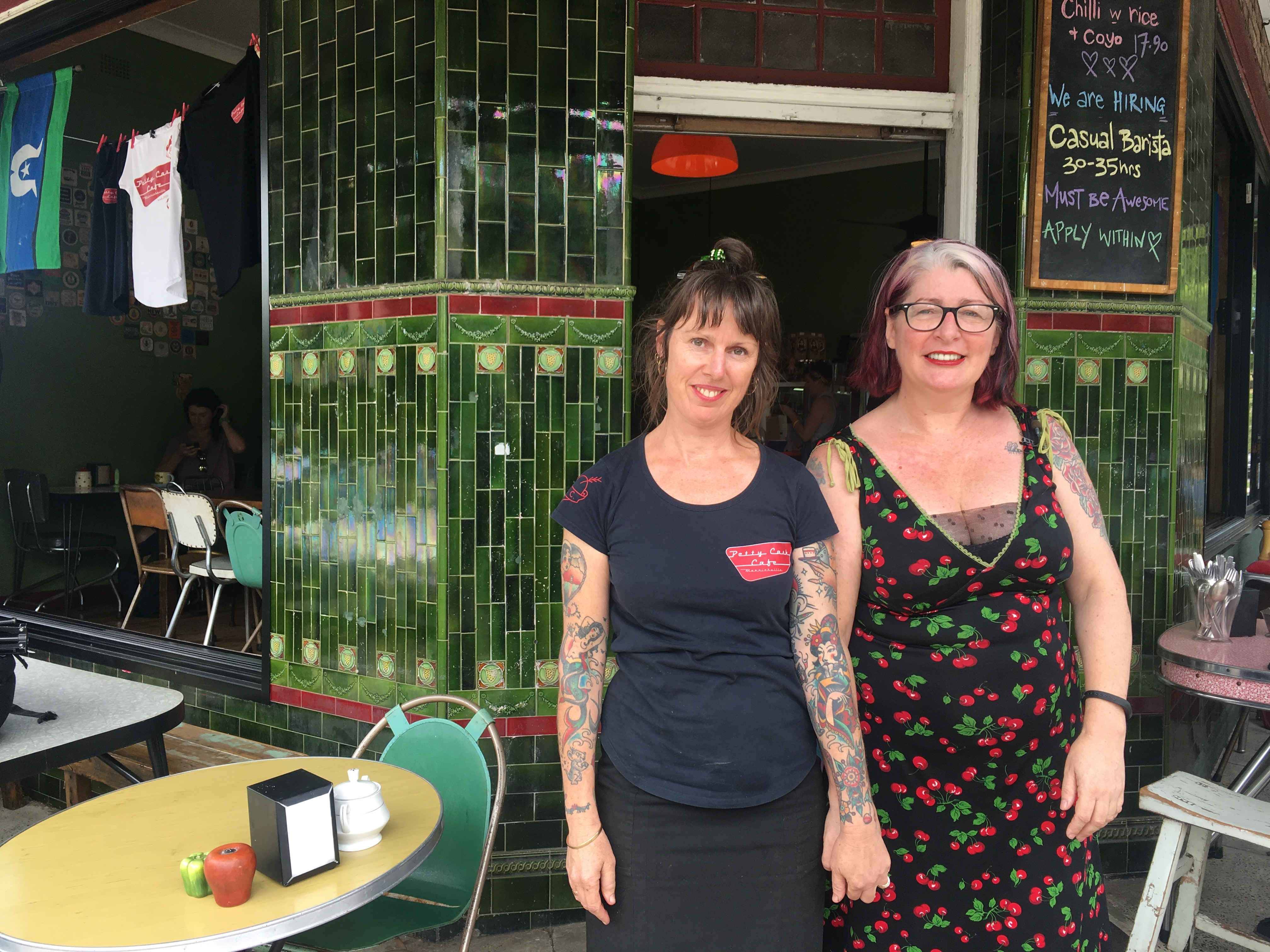 Fred English and Caitlin Craufurd from the Petty Cash Cafe in Marrickville