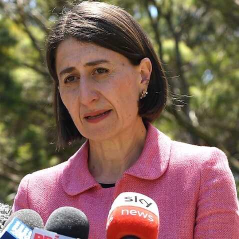 NSW Premier Gladys Berejiklian addresses media at NSW State Parliament, in Sydney, Tuesday, October 13, 2020.