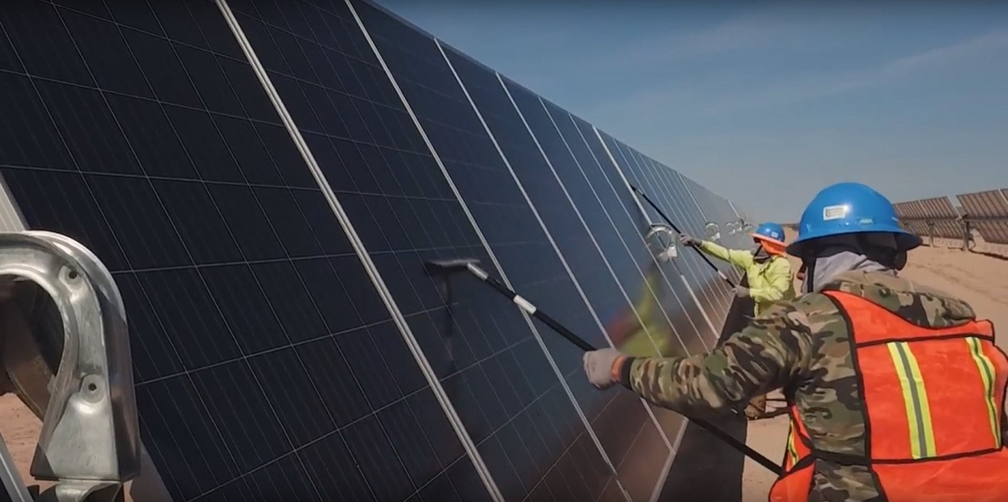 The solar panels will produce enough electricity to power 1.3 million homes.