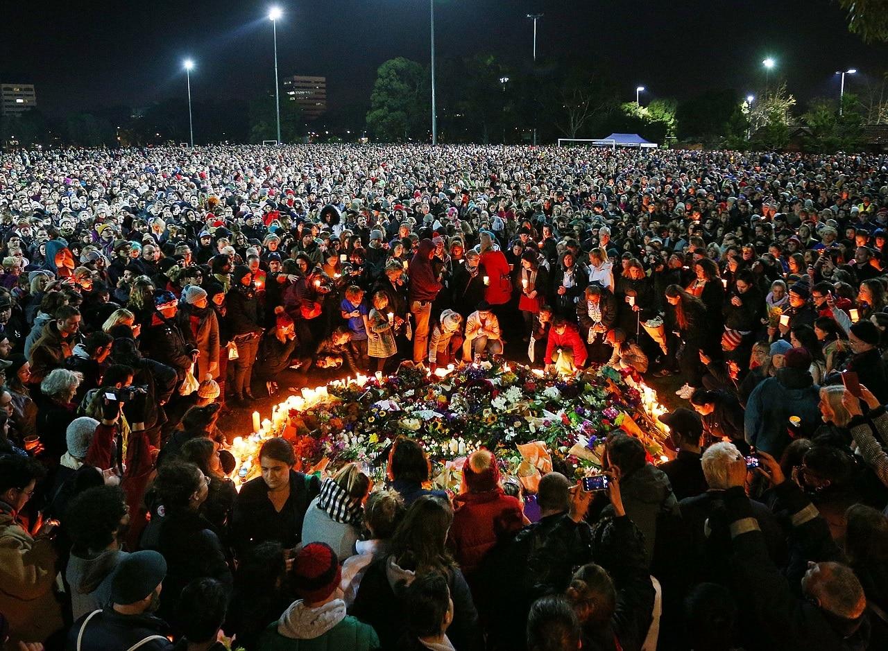 The vigil for Eurydice Dixon last year.