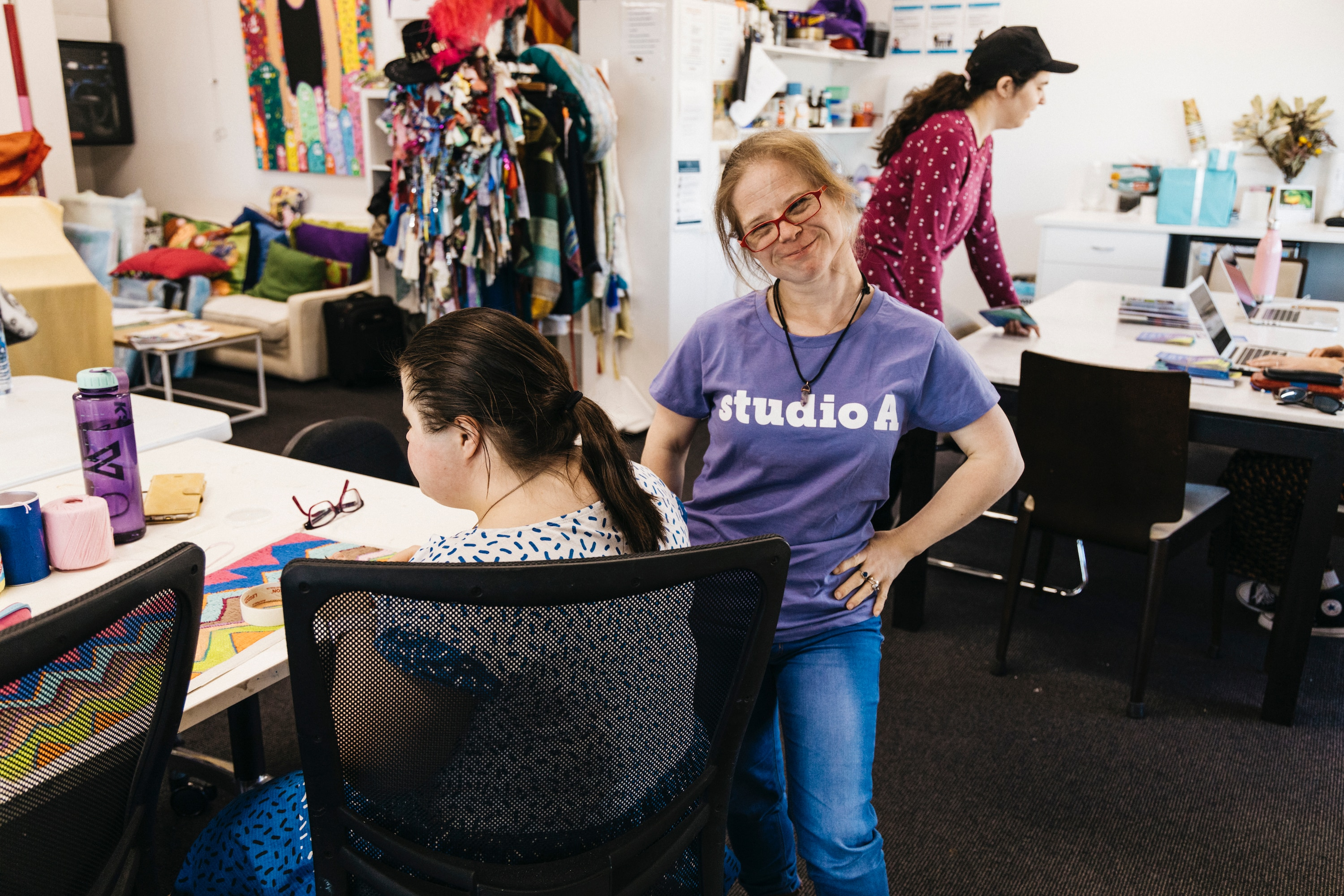 Studio A is a supported studio in Sydney for artists with intellectual disability.