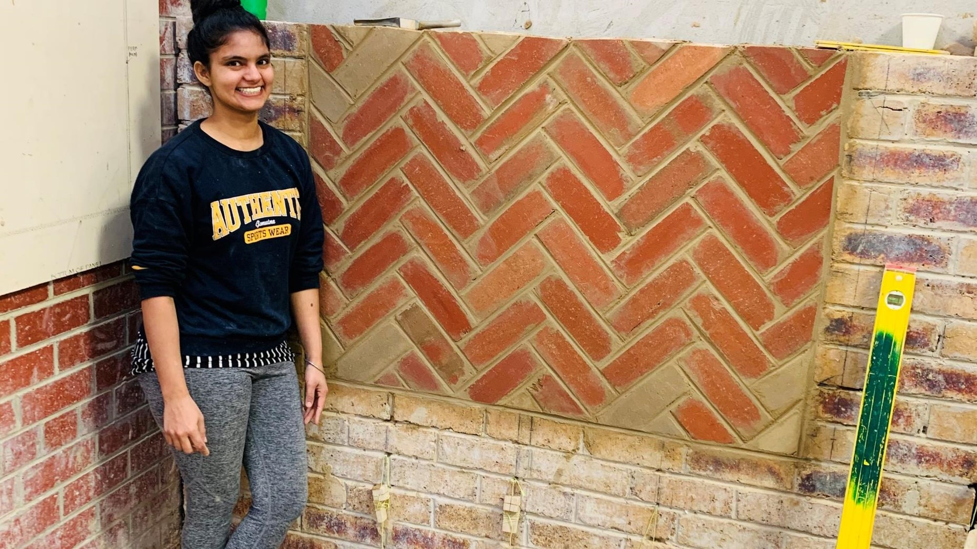 Mandeep Kaur opted for a career in bricklaying after she struggled to secure a job during the pandemic