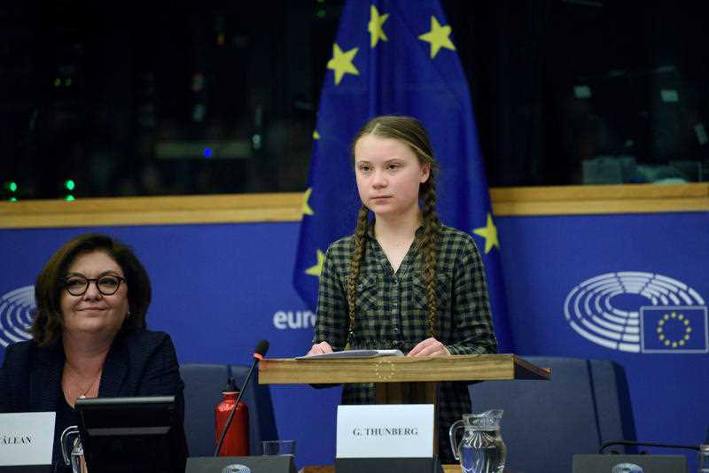 Speaking to the EU, Greta Thunberg urged European leaders to act on climate change.
