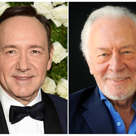 This combination photo shows Kevin Spacey at the Tony Awards in New York on June 11, 2017, left, and Christopher Plummer during a portrait session in Beverly Hills, Calif. on July 25, 2013. Spacey is getting cut out of Ridley Scott finished film.