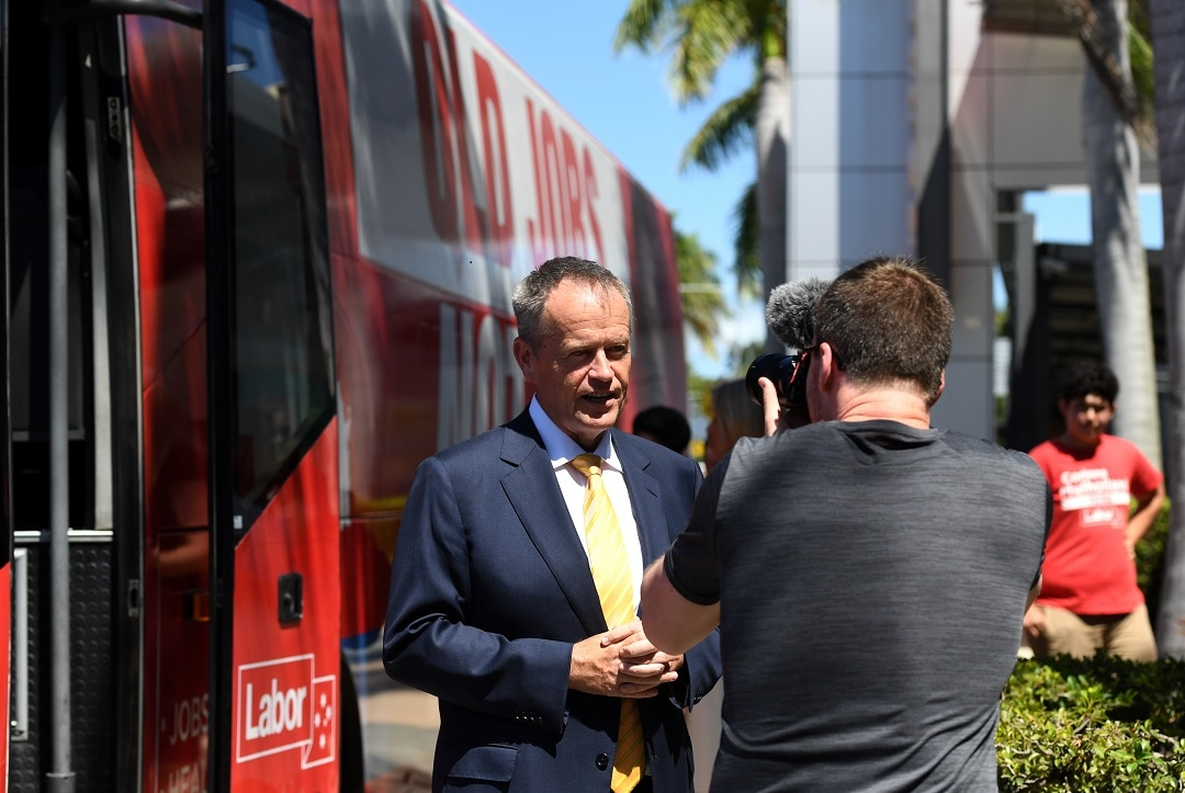 Federal opposition leader Bill Shorten is campaigning in Queensland this weekend.