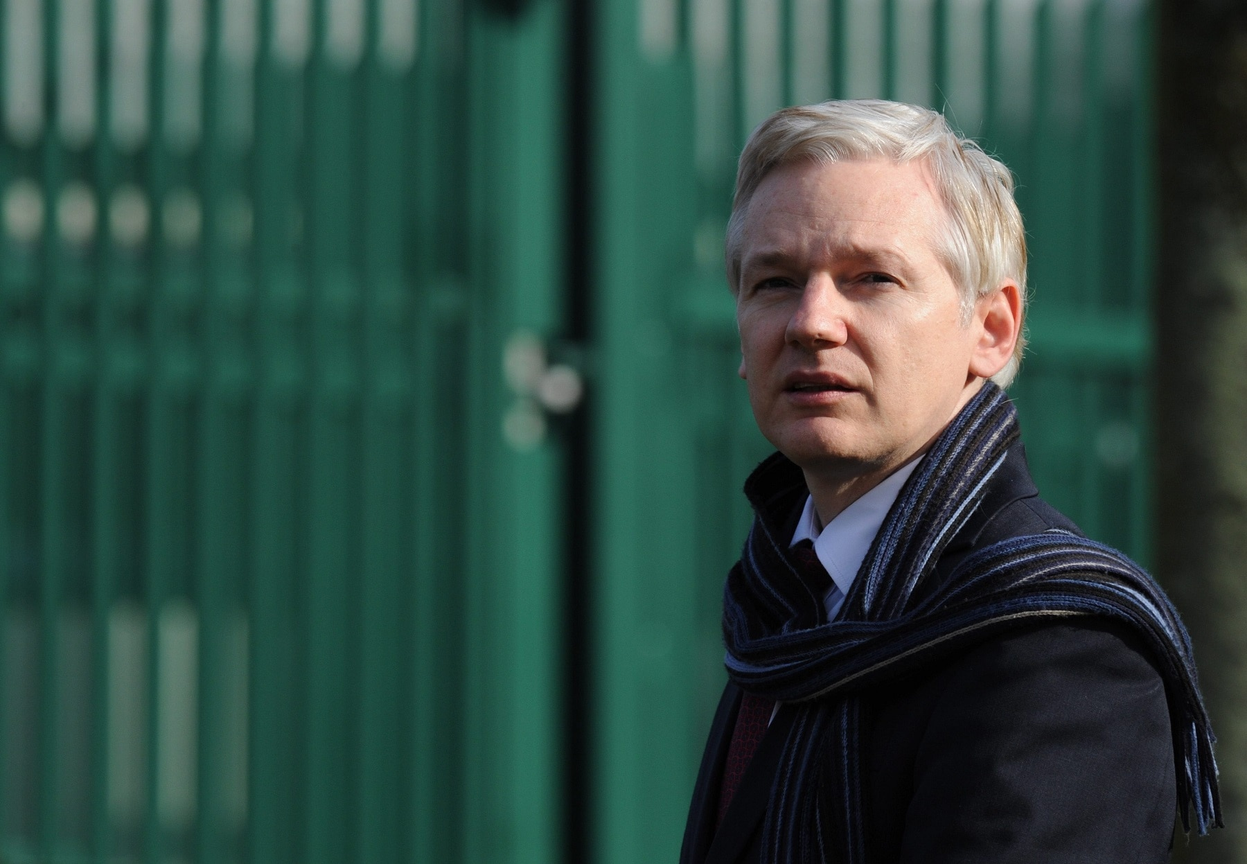 Julian Assange speaks to the media outside Belmarsh Magistrates court, after a judge has decided he has to face extradition  to Sweden, in London Great Britain on 24 February 2011.  EPA/FACUNDO ARRIZABALAGA