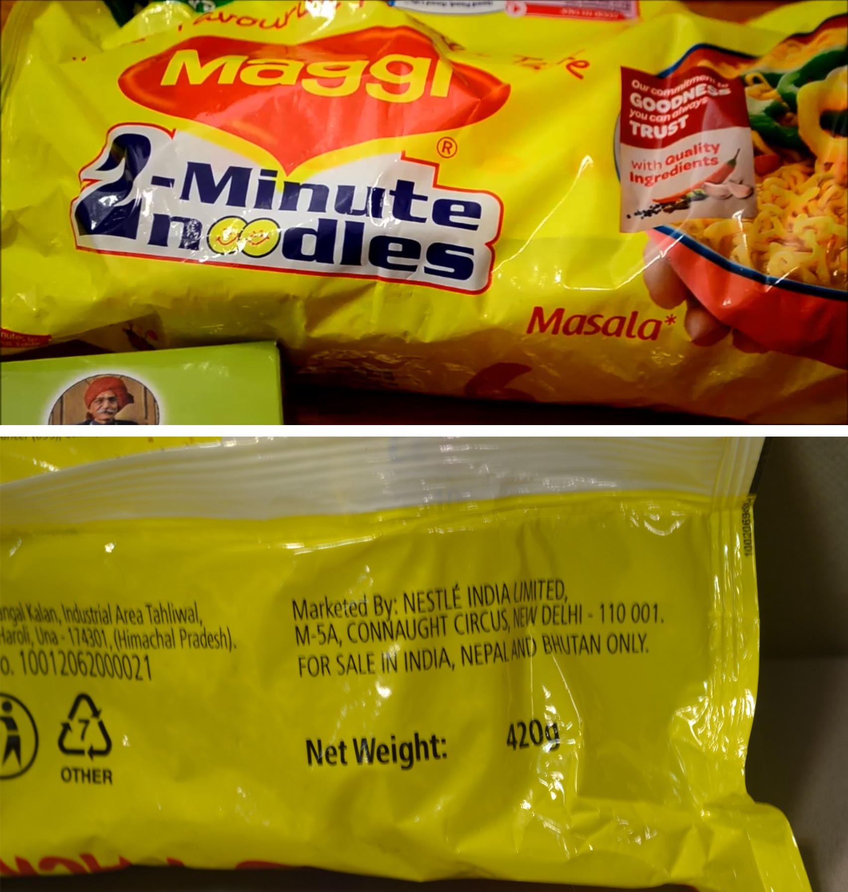Labels reveal foods not intended for sale in Australia are