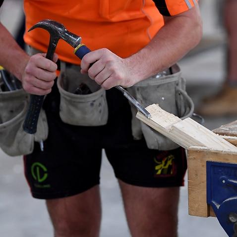 An apprentice carpenter